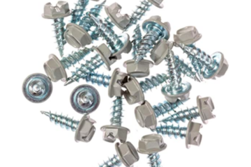 Pearl Grey Gutter Downspout Zip Screws with Easy Start Sharp Tip
